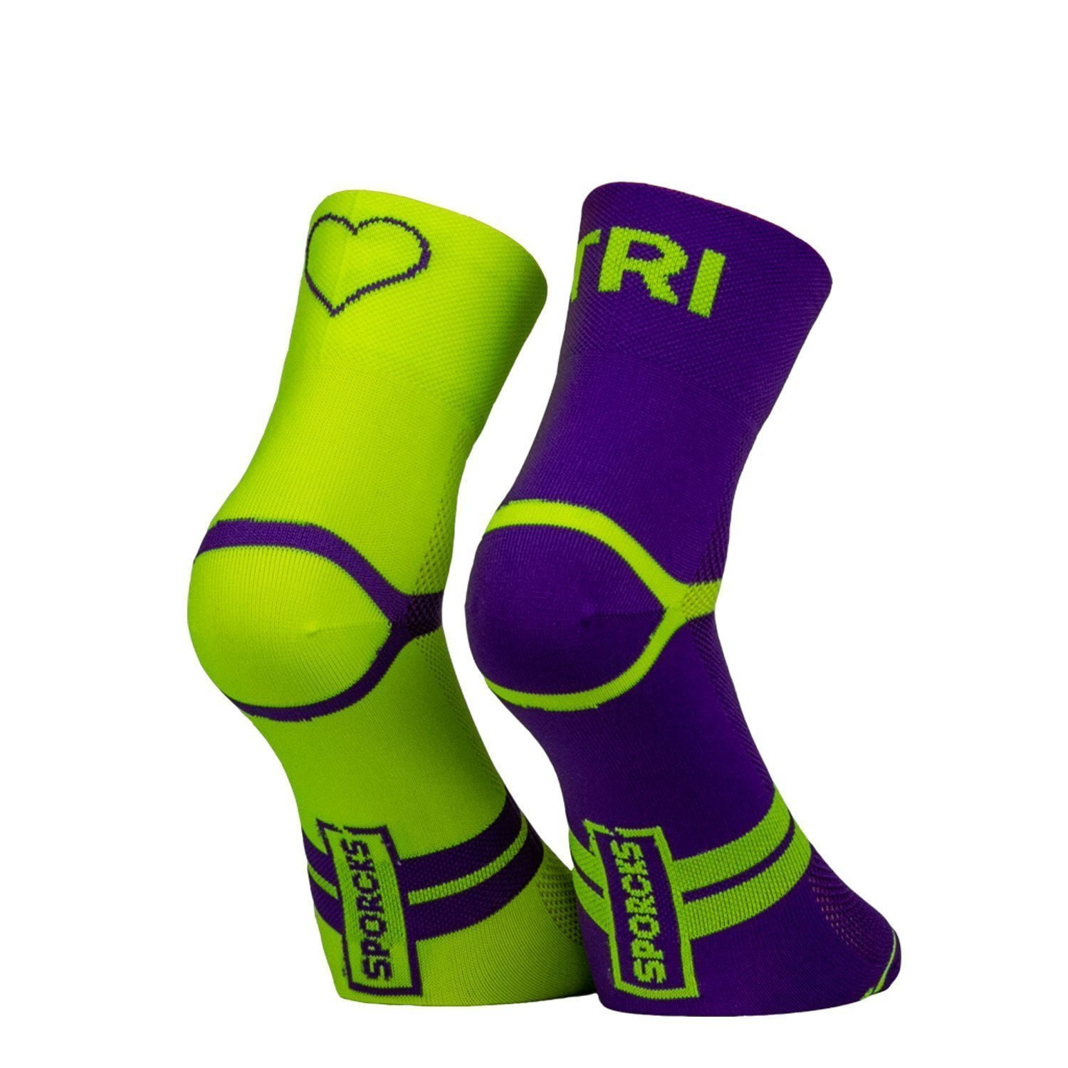 Six Seconds Yellow Purple - Triathlon socks