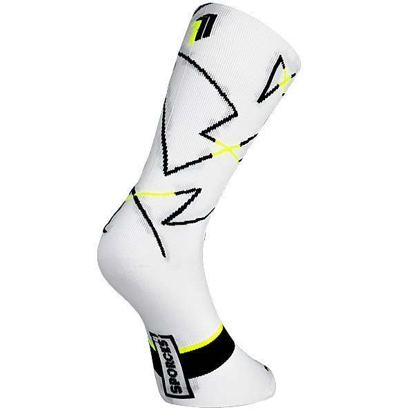 Ciola White - Cycling sock